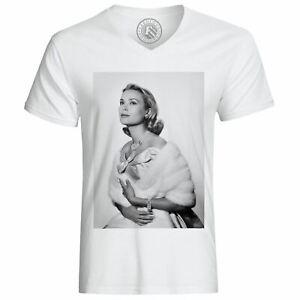 T-Shirt-Homme-Grace-Kelly-Actrice-Vieux-Cinema-Original-9