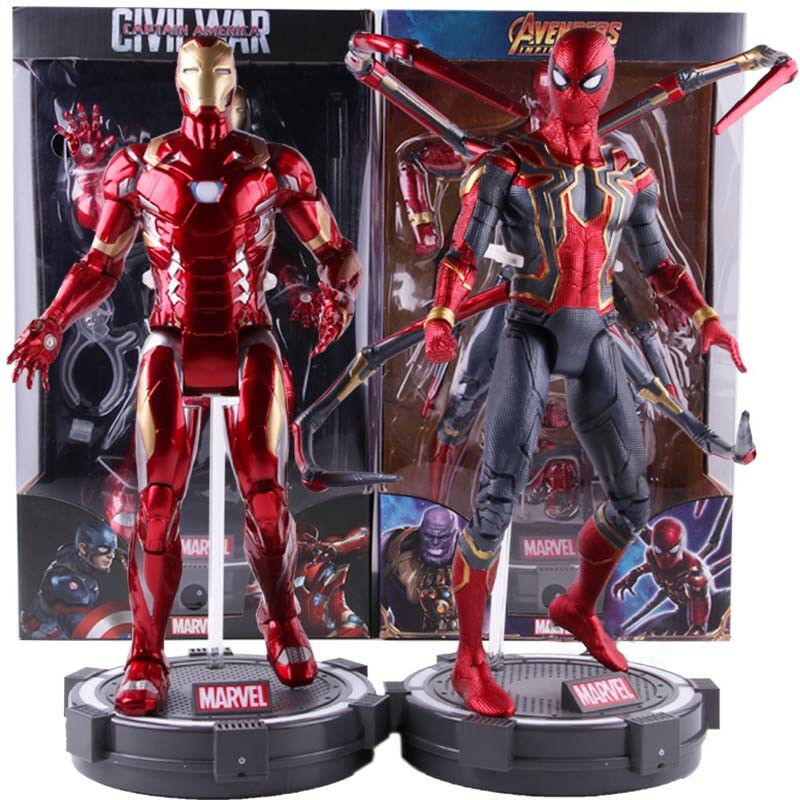 Marvel Civil War Avengers Infinity War Iron Man Iron Spider-Man PVC Figure Toy