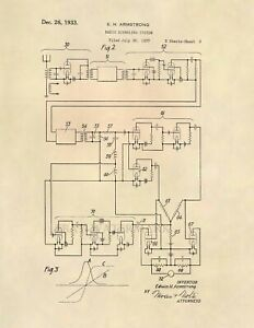 Armstrong-FM-Radio-Official-US-Patent-Art-Print-Vintage-Antique-Radio-645