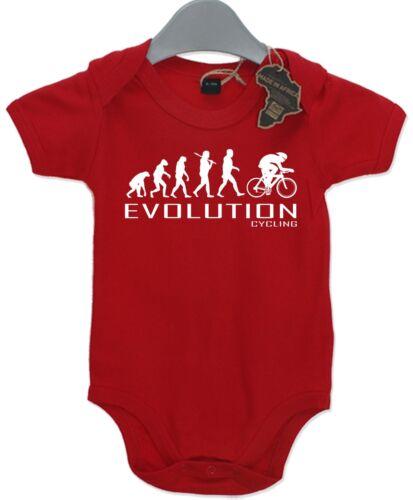 Evolution Cycling Baby Grow Unisex Babies Playsuit Trike Bike Cyclist Baby