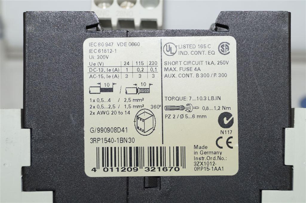 Siemens Sirius Minuteries Relais 3RP1540-1BN30 3RP1540 1BN30 1BN30 1BN30 02540f