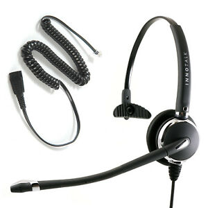 Best Rj9 Phone Headset Rj9 Jack With Gn Netcom Compatible Quick Disconnect Ebay