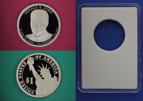 2016 S Proof Gerald Ford Presidential Dollar With DIY Slab Flat Rate Shipping