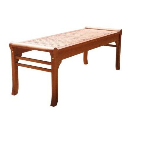 Vifah Patio Furniture.Vifah Backless Patio Bench Weather Resistant Outdoor Furniture Seat 4 Ft