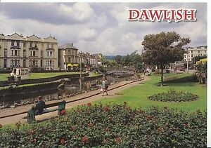 Devon-Postcard-Dawlish-Showing-Park-and-Houses-Ref-AB2647