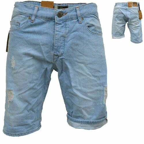 .iProfash Herren Bermuda Jeans Shorts Stretch Denim Kurze Capri Hose Sommer 027