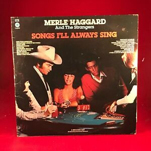MERLE HAGGARD & THE STRANGERS Songs I'll Always Sing 1977 UK double LP EXCELLEN