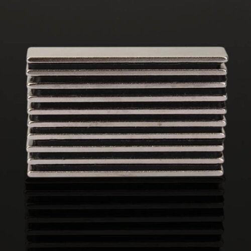 10 Stück 50x10xmm N48 Rechteck Super Stark Block Rare Erde Neodym Magnet