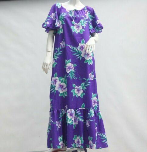 Vintage 70s Floral Print Hawaii Maxi Dress Muumuu