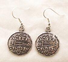 Par De Aretes, Viking moneda en bien Inglés Peltre, En Caja De Regalo (WA)