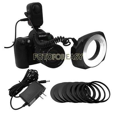 Macro Close-Up O Ring LED Flash Gun Light Lighting