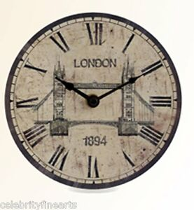 Tower-Bridge-London-Clock-Rustico-Orologio-Numeri-Romani-Icona-Scena