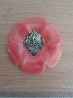 regimental poppy style brooch/COLDSTREAMGUARDS