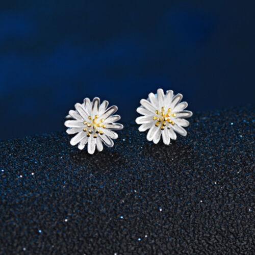 1x Gänseblümchen Ohrringe Gold Silber Farbe Gänseblümchen Ohrringe Ohrstecker