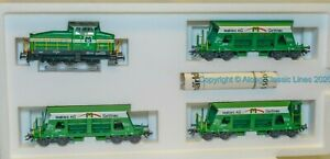 Marklin-28453-Ho-scale-Train-Pack-039-Gravel-freight-Train-039-Henschel-Diesel-loco