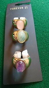3-gold-rings-with-pastel-colour-stones-size-o-summer-pretty-forever-21-boho-chic