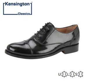 Homme Capped Oxford Haute Brillance Noir Plein Chaussures En Cuir-taille 6 7 8 9 10 11 12-afficher Le Titre D'origine Technologies SophistiquéEs