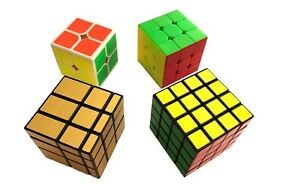 Rubik's Cube 4 Pack including 2x2x2 3x3x3 4x4x4 and Mirror Cube