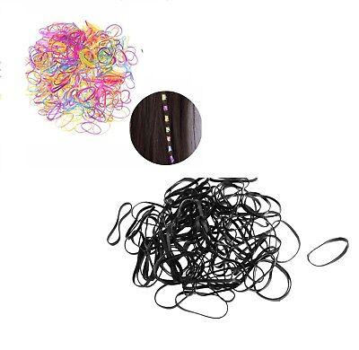 Black Mini Elastic Bands for Braids or Cornrows Hair Accessories UK