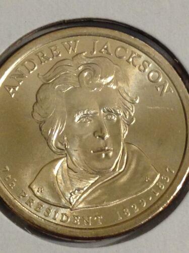 4 Coin Set All 2008 D Andrew Jackson Presidential Golden Dollar BU Gold $1