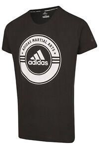 ADIDAS T-Shirt Combat Sport schwarz-weiß für Sport und Freizeit. 100% Baumwolle