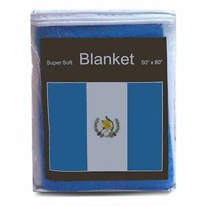 "GUATEMALA  FLAG FLEECE THROW BLANKET   50"" x 60""  - NEW LOWER PRICE"