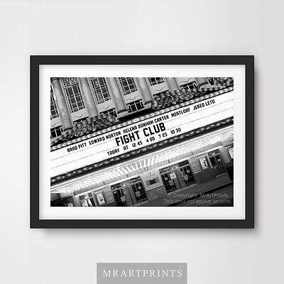 FIGHT CLUB Art Print Poster Cinema Sign Marquee Movie Film Brad Pitt Norton