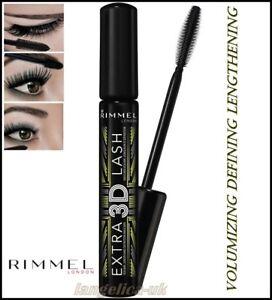 Rimmel-Lash-Mascara-Aclarador-3D-Extra-Alargamiento-definir-Negro