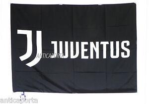 Bandiera Juventus Nera Nuovo Logo 100/% Poliestere