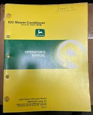 John Deere 820 Mower Conditioner Operator Manual Ome86450 A5 X 2