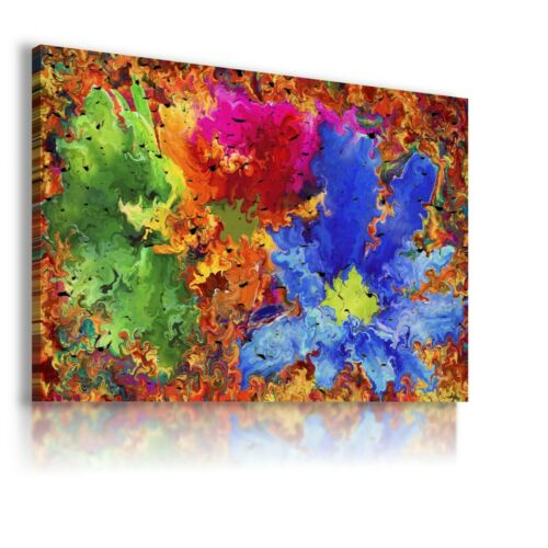 PAINTING SPLASH ABSTRACT PRINT CANVAS WALL ART PICTURE WS225 NO FRAME  MATAGA .