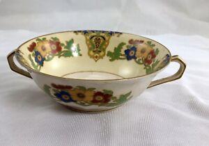 Soup Bowls Floral Design Vintage