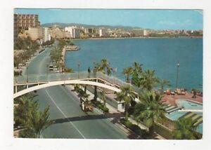 Mallorca-Palma-Paseo-Maritima-Desde-El-Terreno-Spain-Postcard-452a