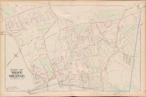 WEST ORANGE COPY PLAT ATLAS MAP 1881 E HUTTON PARK NEW JERSEY ROBINSON