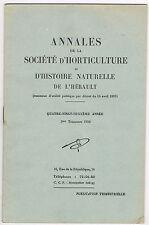 SOCIÉTÉ D'HORTICULTURE Hérault La GARRIGUE Paul MARRES & Naturaliste HARANT 1956