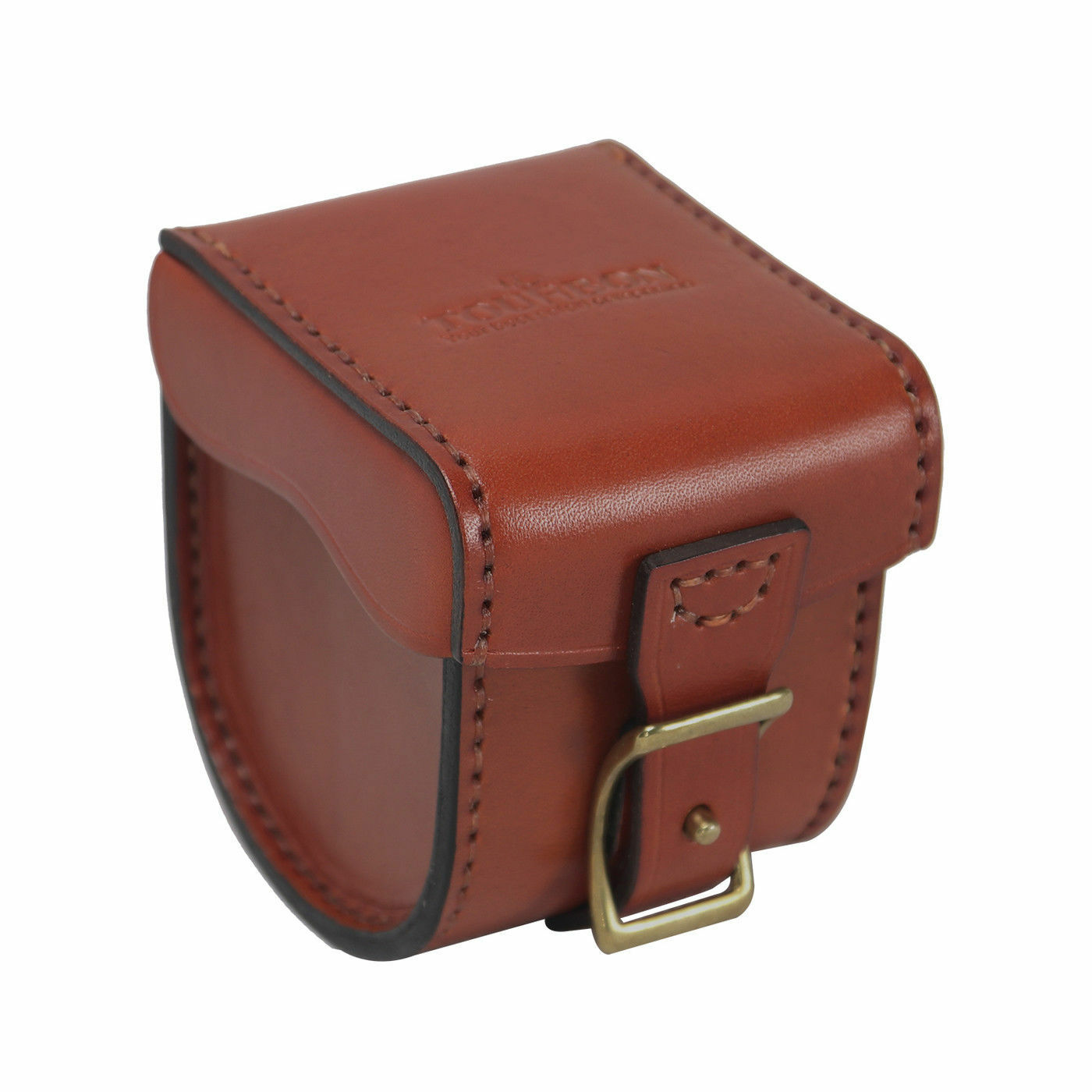 Tourbon Fishing Reel Cover Case Padded Spinning Reel Box Storage Leather