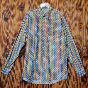 90s-Vintage-Shirt-Missoni-Woven-Cotton-Made-in-Italy