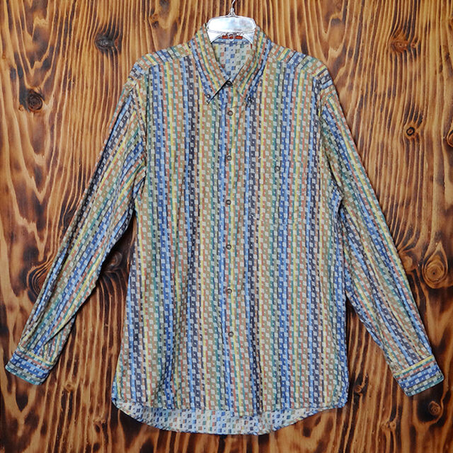90s Vintage Shirt Missoni Woven Cotton Made in Italy