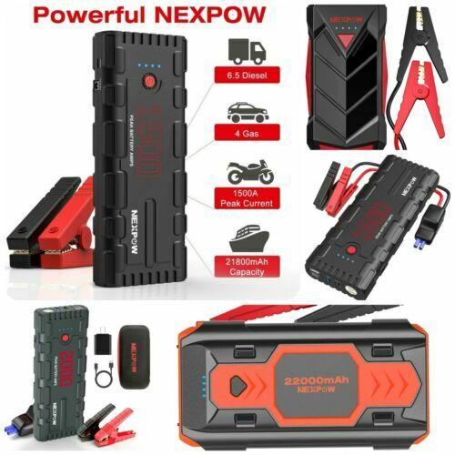 ⚡NEXPOW Heavy Duty Truck Battery Booster Pack Jump Starter Box Portable Car