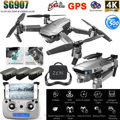 SG907 5G WIFI 4K RC Drone With Dual Camera GPS Quadcopter Remote Control US SHIP
