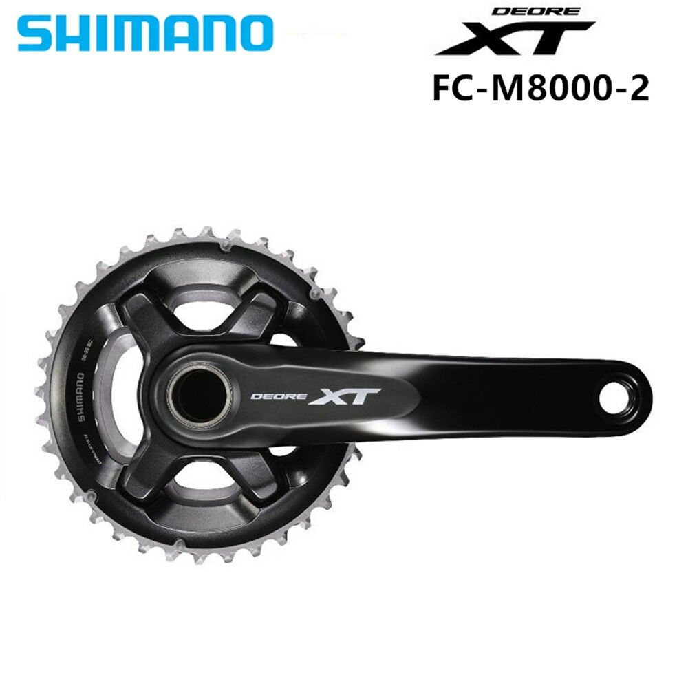 Shimano  XT FC M8000  Crankset  2x11-Speed  26-36T 28-38T 170MM 175MM with MT800