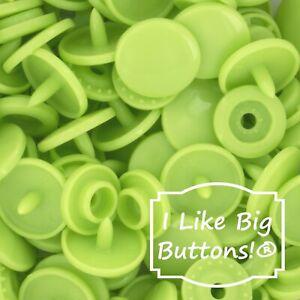 B44 Apple Green Gloss KAM Snap Sz20 Standard Prong KAM Snap Fasteners Plastic Snaps for Cloth Diapers Plastic Snap Buttons KAM Snap Set