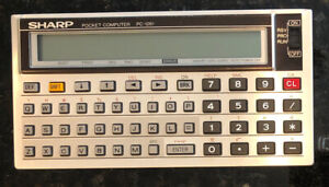 Sharp PC-1261 Pocket Computer Vintage Lightly Tested And Great Condition