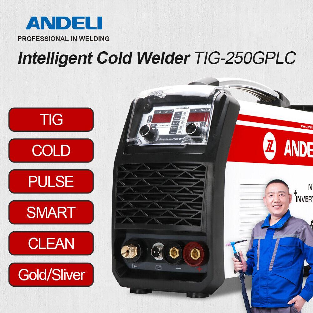 New 110/220V Multifunctional TIG Welder PULSE/Au-Ag/CLEAN/SMART Cold Welder ANDELI .