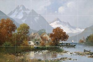 Mountain-landscape-Tile-Mural-Kitchen-Bathroom-Wall-Backsplash-25-5x17-Ceramic