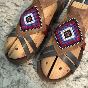 PIKOLINOS-Womens-NAJAVO-INDIAN-BEAD-Sandal-LOW-HEEL-39-8-5-9