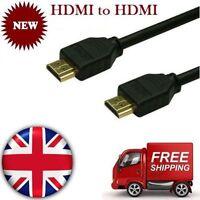 1M 1.5M 2M 3M 5M 10M HDMI v1.4A GOLD Cable HDTV 3D 1080P Full HD Lead Metre