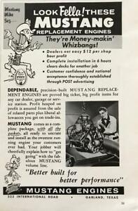 1961-Mustang-Engine-Rebuilders-Garland-Texas-Print-Ad-Mustang-Mike-Sez