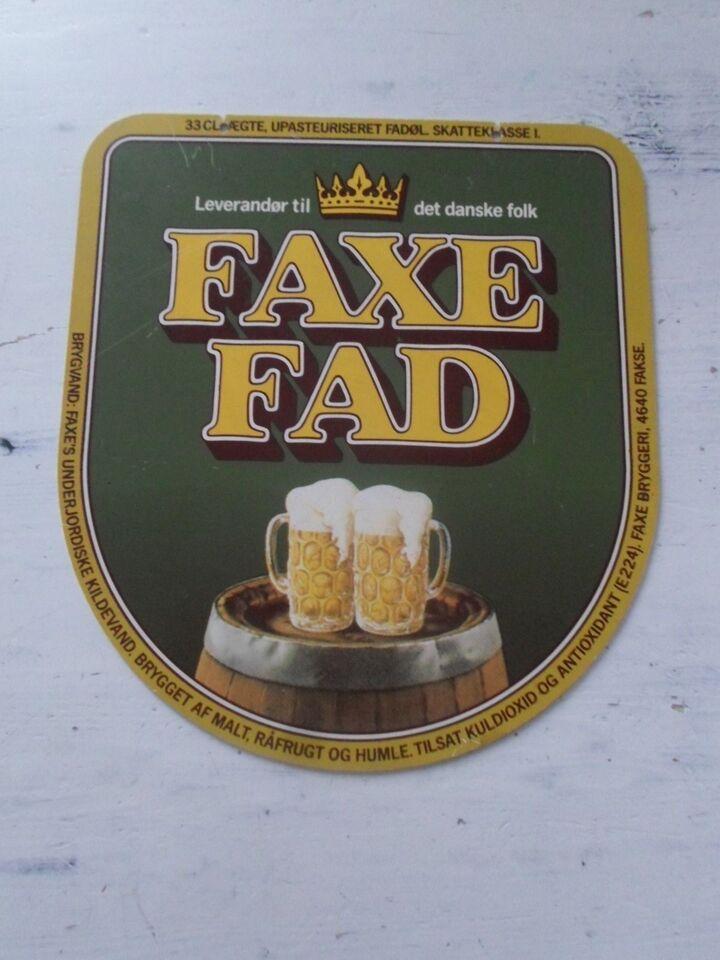 nok Skilte, 31x28 STORT Faxe Fad – dba.dk – Køb og Salg af Nyt og Brugt GS02