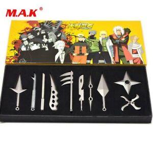 Naruto Mini Metal Weapons Model Hatake Kakashi Deidara Cosplay Toys 7 Pcs//set